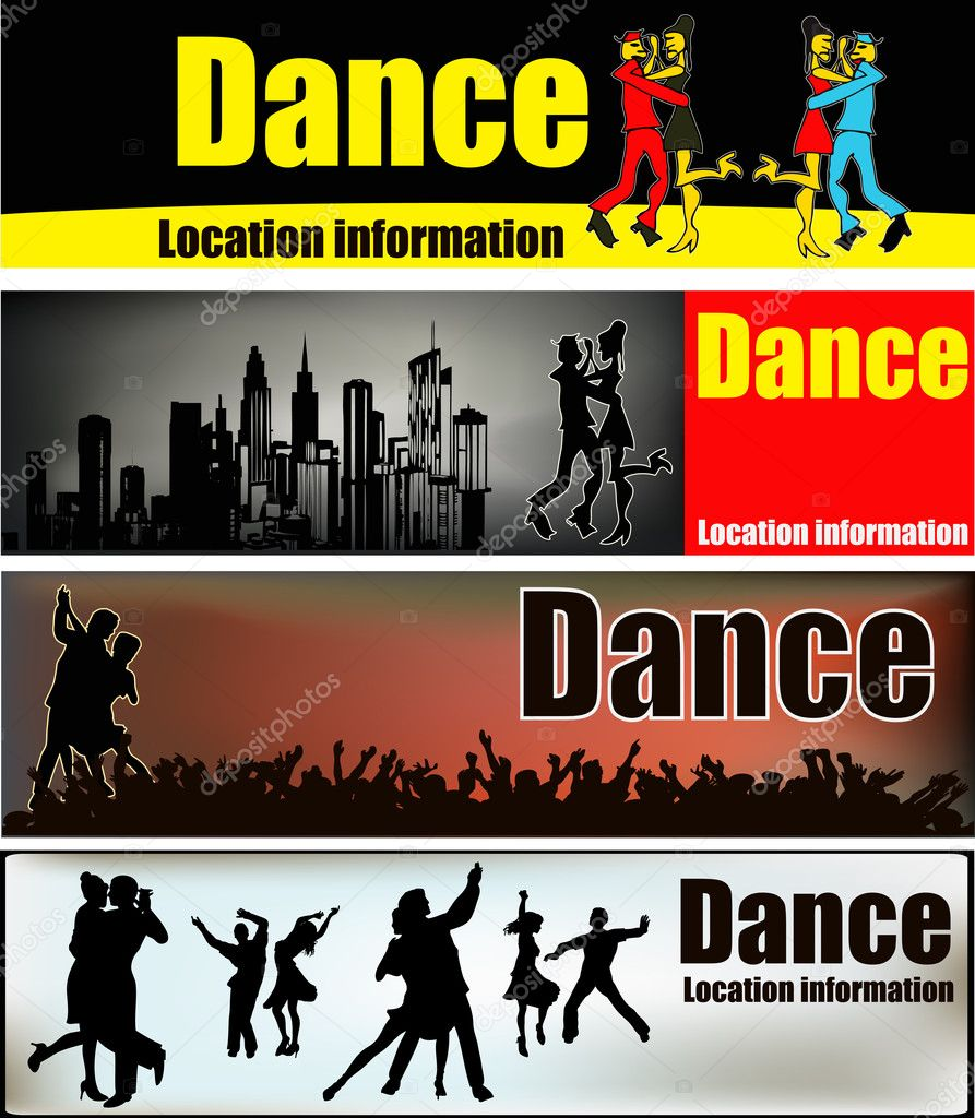 Ballrooom Dance Web Banner Templates  Stock Vector #9167339