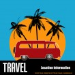 Tropical Camper Van — Stock Vector