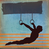 Gymnast — Stock Vector