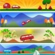 Stock Vector: Camping and Caravaning