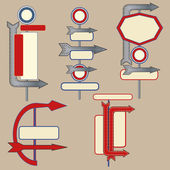 Vintage Signpost elements — Vector de stock