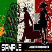 Italian Travel Flyer — Stock Vector