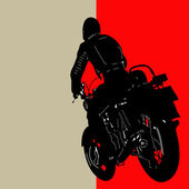 Biker Background — Vector de stock