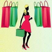 购物袋 — 图库矢量图片