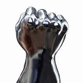 Stříbrná ruka — Stock fotografie