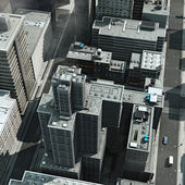 Aerial view of a big city — Stock Photo