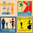 Retro Cocktail labels - Stock Vector