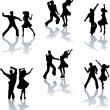 Stock Vector: SalsDance Silhouettes
