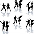 Royalty-Free Stock Vector Image: Salsa Dance Silhouettes