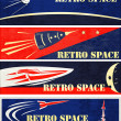 Retro Space Web Banners - Stock Vector