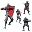 Knight in Full Armour - Stock Photo