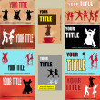 Royalty-Free Stock Vector Image: Dance Business Card Templates