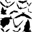 Stock Vector: Bat Silhouettes