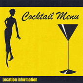 Cocktail Menu Template — Stock Vector