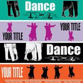 Ballroom Dancing Web Banner Templates — Stock Vector