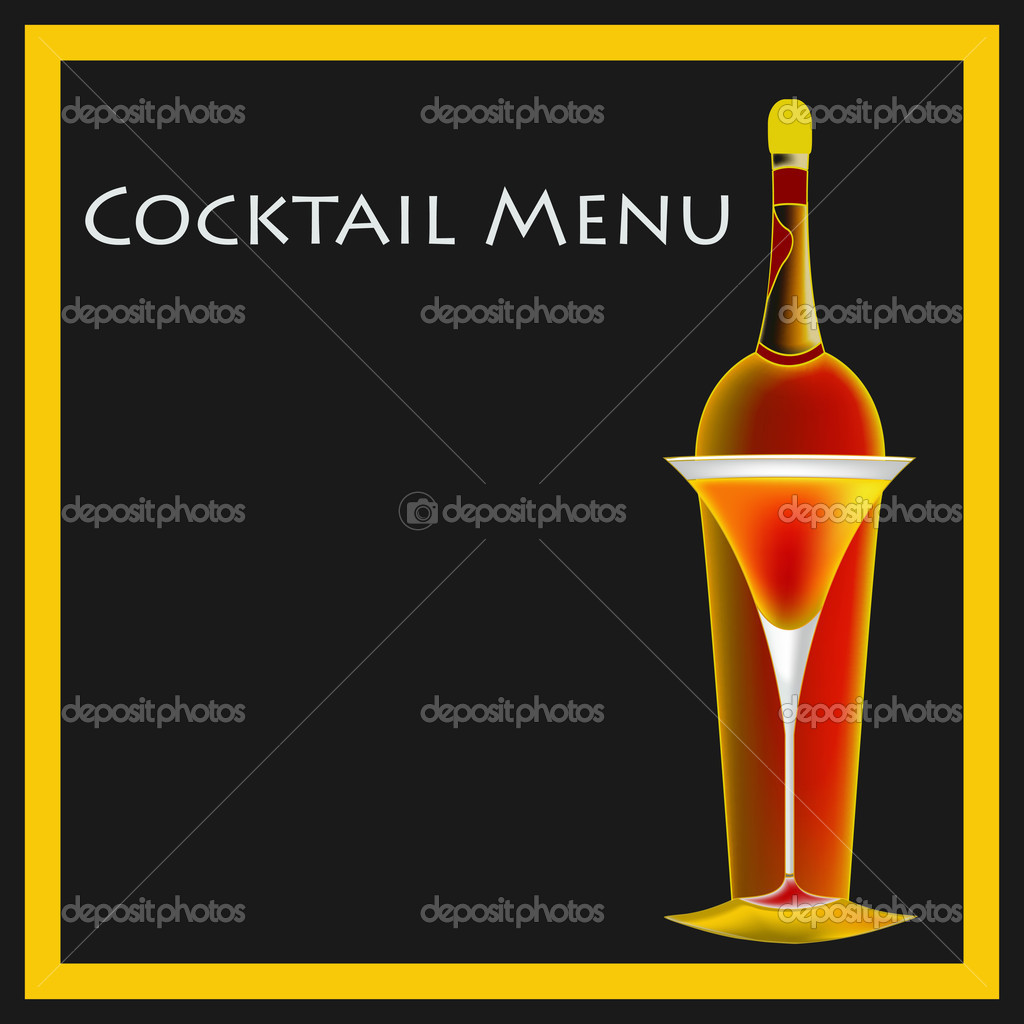 Cocktail menu templates