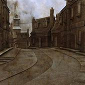 Industrial Town Illustration — Stock Photo