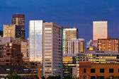 Denver Skyline at Dusk — Stock Photo