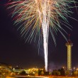 4th of July Fireworks in Denver — Stock Photo