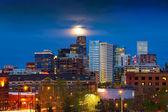 Full Moon Above Denver — Stock Photo