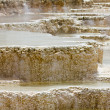 Bizzare Pools of Boiling Water at Mammoth Hot Springs in Yellows — Stock Photo