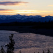 Colorful Yellowstone Sunset Over The River — Stock Photo