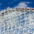 Thrill Seekers Exciting Rollercoaster Ride — Stock Photo