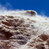 Closeup Detail of Mammoth Hot Springs in Yellowstone National Pa — Stock Photo
