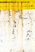 гранж покрыты стены краской ржавый желтый — Стоковое фото