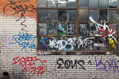 Grunge Covered Alley With Graffiti In Denver Colorado — Stock Photo