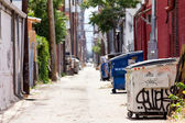 Grungy Urban Alley In Denver Colorado USA — Stock Photo