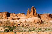 Rocky Canyon Desert Landscape Background — Stock Photo