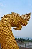 Snake serpent statue. — Stock Photo