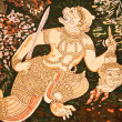 Hanuman painting on the wall. -  