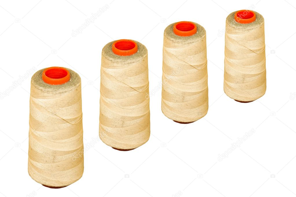 Four spool of thread isolated  on white background — Stock Photo #10659885