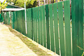 Galvanized fence. — Stock Photo
