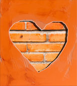 Brick walls of the heart. — Stock Photo
