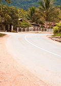The road curves. — Stock Photo