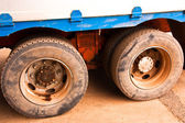 Truck tire. — Stock Photo