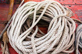 The white rope. — Stock Photo