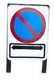 Do not park along the plate — Zdjęcie stockowe