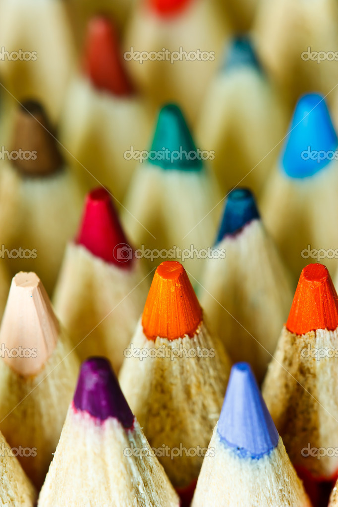 Macro shot of bright color pencils — Stock Photo #10048969