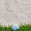 Golf ball and sand bunker — Stock Photo #10055747
