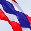 Royalty-Free Stock Photo: Streaming Thai  flag isolated on white background