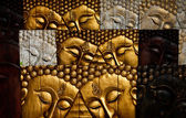 Native Thai style wood carving — Foto de Stock