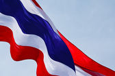 Streaming Thai flag isolated on white background — Stock Photo