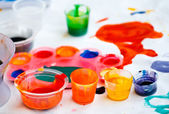 Dirty paint after kids played — Stock Photo