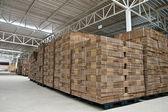 Stack för vikta pappers box i lager — Stockfoto