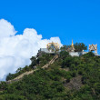 Stock Photo: Temple on mountain and blue sky, Thailand
