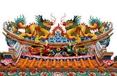 Chinese style dragon on roof — Stock Photo